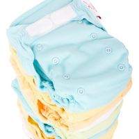 Blue and orange Baby diapers