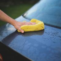 car blue washing sponge yellow t Hand